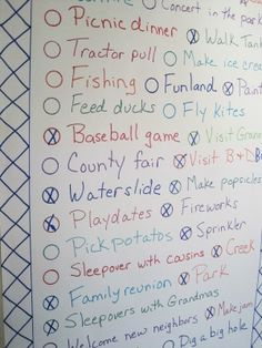 start a family tradition of making a summer fun to do list and HAVE FUN marking things off