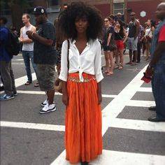 Understated grace from the #afropunk music festival #style #streetstyle