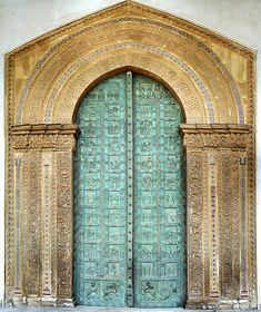 Monreale cathedral bronze portal (west door) total by Petrus Agricola via Flickr