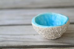 Gorgeous reef inspired dipping bowl by Kaytwoclay.