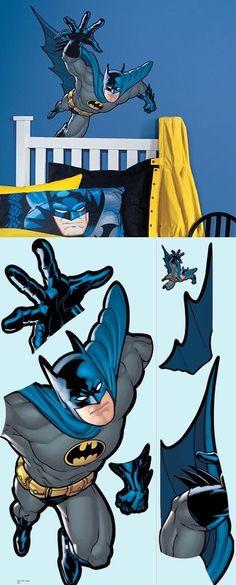 Batman And Spiderman Wall Murals Decorating Ideas Bens Room - Superhero wall decalsbestcity wall stickers ideas on pinterest batman stickers