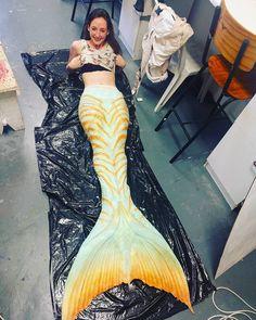 Mermaid in Beautiful Yellow Tail