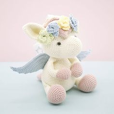 This is an original pattern (in English using American terminology) to create your own sweet Harriet the Pegasus. Harriet is a real sweetheart. She has the biggest heart and will be a wonderful friend for someone very special. BEFORE YOU PROCEED PLEASE NOTE THAT THIS LISTING IS FOR