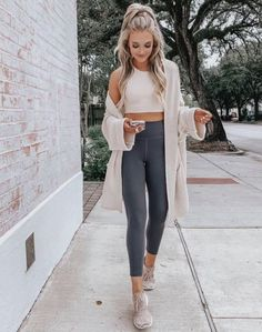 Every wonder what to wear to brunch? Look no further! Our basic black leggings a… Every wonder what to wear to brunch? Look no further! Our basic black leggings and tan cropped tank are the perfect solution! Adidas Leggings Outfit, Legging Outfits, Athleisure Outfits, Outfit Jeans, Fall Leggings, Black Leggings Outfit Summer, Fishnet Leggings, Tribal Leggings, Leggings Store