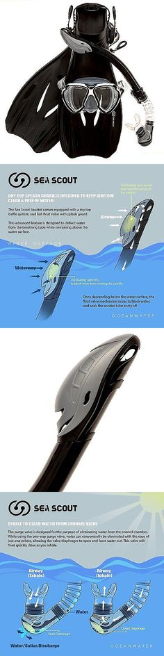 Snorkels and Sets 71162: Panoramic Mask Fins Snorkel Swim Gear Promate Set Snorkeling Cuba Dive New -> BUY IT NOW ONLY: $49.66 on eBay! http://www.deepbluediving.org/best-scuba-diving-mask-reviews/