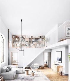 White loft library