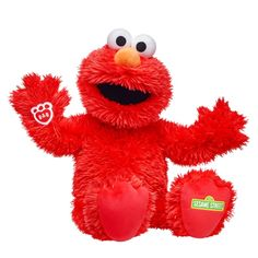 Build a Bear Sesame Street Elmo 2017 Red Gift Box, Blue Gift, Elmo Toys, Giant Stuffed Animals, Stuffed Toys, Sesame Street Muppets, Red Fur, Build A Bear, Party Stores