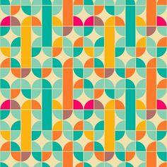 Adesivo de Parede Retro Abstract - AdsiveShop Adesivos Decorativos de Parede