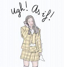 Alicia Silverstone - Clueless - Fashion Illustration by verusveteris Alicia Silverstone Clueless, Clueless Fashion, Fashion Illustrations, My Style, Fashion, Fashion Drawings