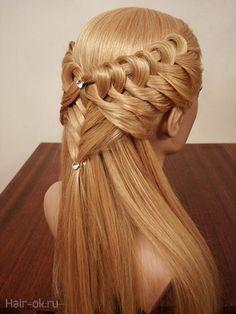 g – Hair Style Braided Hairstyles Tutorials, Easy Hairstyles, Girl Hairstyles, Medieval Hairstyles, Hair Due, Pinterest Hair, Different Hairstyles, Braid Styles, Hair Designs