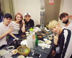 Minghao hangs out with sunbae (kulkyung pristin, bumzu, Baekho & Minhyun) Nu'est Jr, Nu Est, Kpop Aesthetic, After School, Photo Studio, Chanyeol, Hanging Out, Seventeen, Celebs