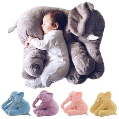 Cartoon Baby Chair Cushion Baby Stroller Baby Carriage Umbrella Stove Warm Blanket Cartoon Elephant Comfortable Accessories Carefully Selected Materials Mother & Kids Strollers Accessories