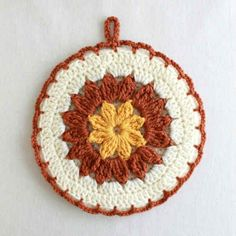 Free pattern for Strawflower Potholder @ Maggie's Crochet