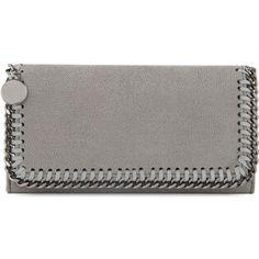 STELLA MCCARTNEY Falabella faux-suede wallet
