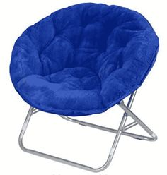 Comfy Chairs Urban Shop Faux Fur Saucer Chair with Metal Frame, One Size, Black Dorm Chairs, Living Room Chairs, Bag Chairs, Chairs For Bedrooms, Dining Chairs, Chiavari Chairs, Papasan Chair, Chair Cushions, Chair Upholstery