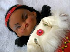 Vintage American Indian Doll Collectibles by VintagePlusCrafts, $8.00