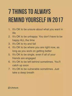 7 Things to Always Remind Yoursef