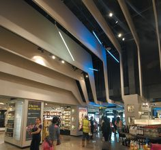 Hunter Douglas installed the suspended ceiling at the new BIZA flagship store