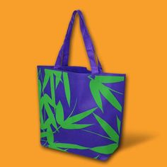 Purple Bamboo eco-bag made of nonwoven material. Fits a chic lady who does a lot of shopping for clothes and other personal care products. Art by Robert Montelibano for Gifthaven. Visit www.gifthaven.com.ph