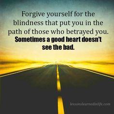 Beoordeel  deze negatieve ervaring in positieve zin, als een les die je dient te leren als je die ervaring met anderen deelt, heb je een missie waarvan anderen kunnen leren ! http://badasscontent.com/blindheid-verraad http://badasscontent.com/blindness-betrayl