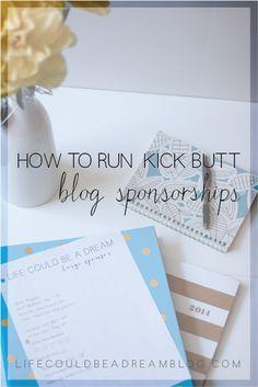 How To Run Kick Butt Blog Sponsorships