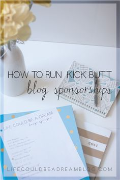 Three things to focus on to help you have a kick butt sponsorship program! #blog #tips #socialmedia
