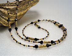 Black Crystal Eyeglass Chain ∫ Luxury Eyeglasses Chains ∫ High-End Glasses Chain ∫ Glasses Lanyard Necklace ∫ Eyewear  Holder Chain  Cord