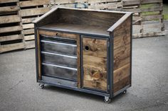 This Iron Horse Server & Sales Station is just one of the custom, handmade pieces you'll find in our furniture shops. Metal Projects, Furniture Projects, Diy Furniture, Furniture Design, Garden Furniture, Luxury Furniture, Furniture Dolly, Furniture Online, Office Furniture