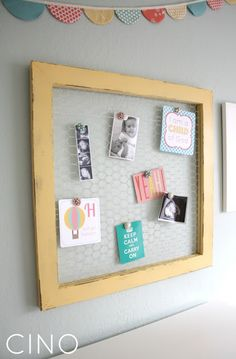craftiness is not optional: wood & wire display frame