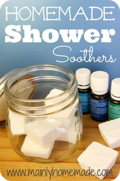DIY Homemade Vapor Shower Soothers for respiratory support. Soothing shower cubes make a great gift idea for wellness packet