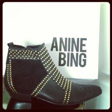 ANINE BING Boots with Studs | Spotted on @Cat Waits Waits Deeley