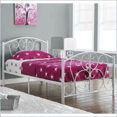 $166 - Monarch Twin Metal Bed Frame in White