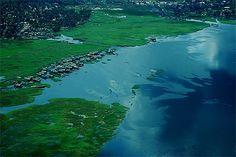 Banks of the river Congo at Mbandaka