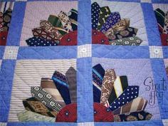 Blanket made from mens dress shirts and ties!