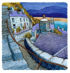 Landscape Paintings and photographs Picture Description ABERMAW. There is a Welsh word that expresses my subjects better than any English equivalent - Landscape Art, Landscape Paintings, Monuments, Naive Art, Print Artist, Folk Art, Street Art, Illustration Art, Photos