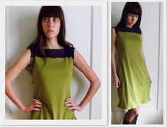 Color Block Dress Made to Order In Organic Cotton by temerson1, $45.00