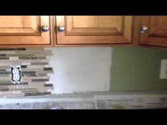 DIY installing mosaic tile backsplash