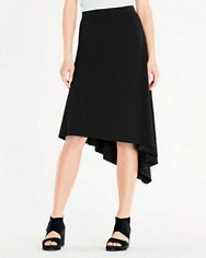Eileen Fisher Viscose Jersey High-Low Flare Skirt