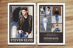 Modeling Comp Card Template-V377 by Template Shop on @creativemarket