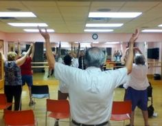 Members of Touchstone Health and the Bronx House Senior Center participate in free tai chi self defense classes sponsored by Touchstone Health HMO.