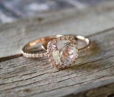 SET  3 Carat Diamond and White Sapphire by Studio1040 on Etsy, $2850.00