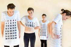 how to make maternity calendar shirt... to make in a couple years