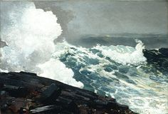 Northeaster, 1895  Winslow Homer (American, 1836–1910)  Oil on canvas    34 1/2 x 50 in. (87.6 x 127 cm)
