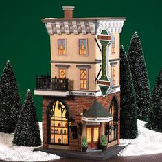 Dept 56 Christmas in the City Foster Pharmacy Department 56 Department 56 Christmas Village, Christmas Village Collections, Christmas In The City, Christmas Village Houses, Christmas Village Display, Christmas Villages, Christmas Home, Miniature Christmas, Christmas Things