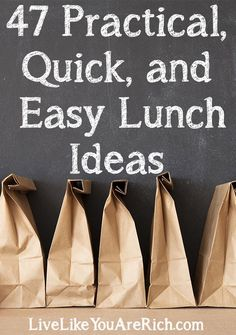 These are awesome ideas for those who often wonder what should I make for lunch today? I love how practical, easy, quick, and inexpensive they all are! #LiveLikeYouAreRich