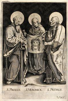 Saint Paul the Apostle, Saint Veronica and Saint Peter the A Wellcome V0033208.jpg