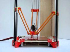 Rostock delta robot 3D printer prototype  it makes me think of a dancing daddy long legs