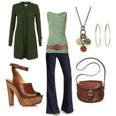 So many cute Green Outfits!  @Laura McMurtrey on Polyvore