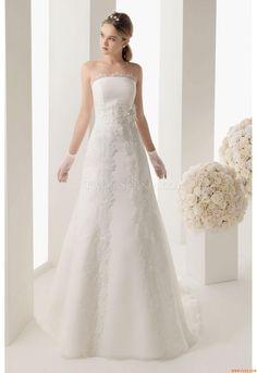 Elegant Strapless A-line Wedding Dresses China Rosa Clara 161 Mikael Two 2014