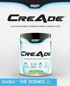 RSP Nutrition CreAde - 50 servings - This comprehensive creatine blend ensures maximum absorption and utilization throughout training resulting in increased strength and size. Perfect for building muscle mass.